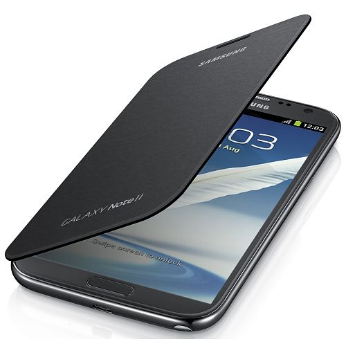 Samsung Galaxy Note 2 Flip Cover Zilver