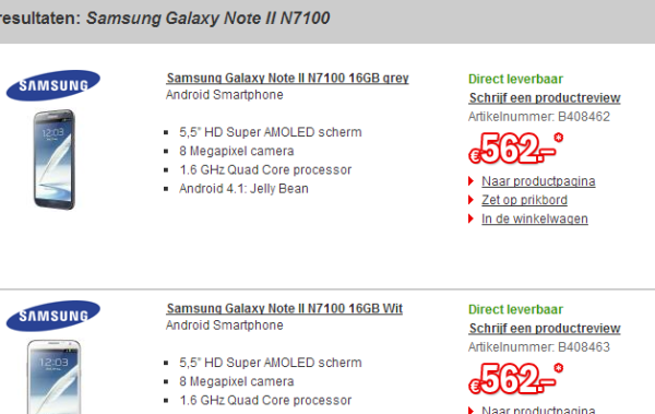 samsung-galaxy-note-2-los-tip-update Tip: losse Samsung Galaxy Note 2 nú voor 579 euro (update: 530!)