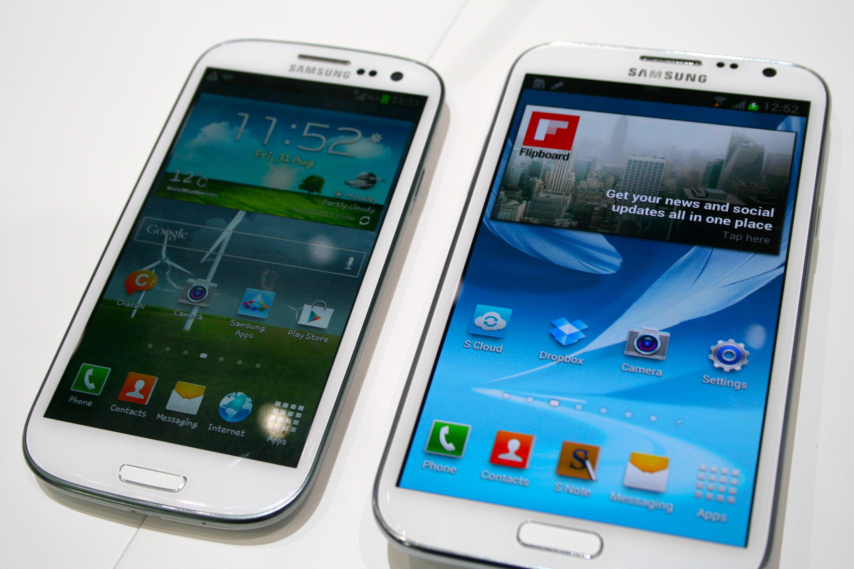 Samsung Galaxy Note 2 versus Galaxy S3